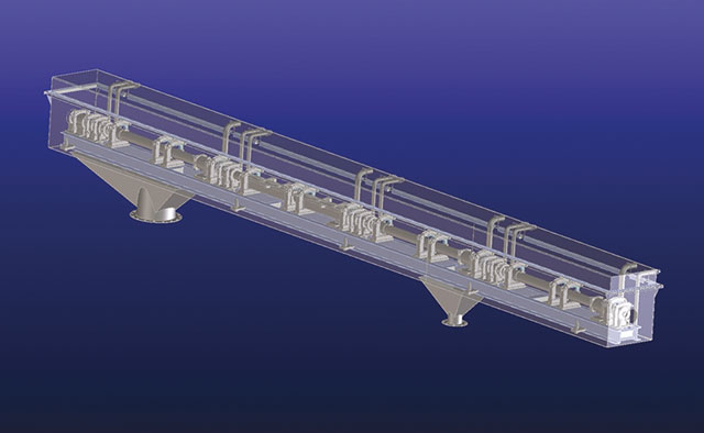 Cooling line for steel bar stock, installed inside of a bypass (Loop) with loop controller